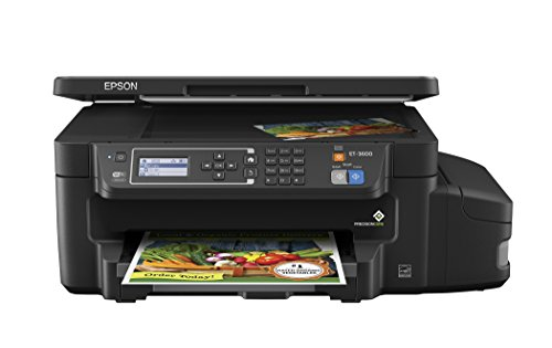 Epson ET-3600 EcoTank Wireless Color All-in-One Supertank Printer with Scanner, Copier & Ethernet by Epson