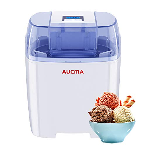 (Aucma Ice Cream Machine, 1.5 Quart Ice Cream Maker Gelato Maker Electric Frozen Yogurt Sorbet Machine with LCD Timer for Home Kids (HICM-119))