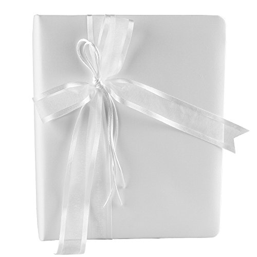 Ivy Lane Design Simplicity Wedding Memory Book, White