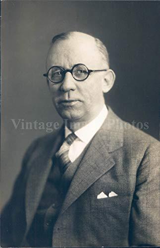 National Bank Stock - 1930 Photo Hansah Vice President National Bank Commander Portrait Vintage Rare