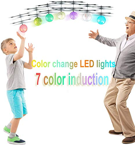 Flying Ball, UTTORA RC Flying Toy for Kids Boys Girls with Colorful Flashing LED Infrared Induction Helicopter Ball Toy Gift for Kids Indoor and Outdoor Games [Upgraded Version]