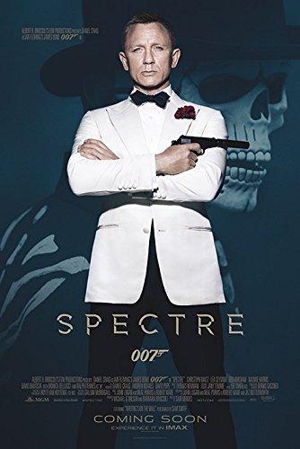 James Bond Spectre Skull Maxi Poster, Wood, Multi-Colour by