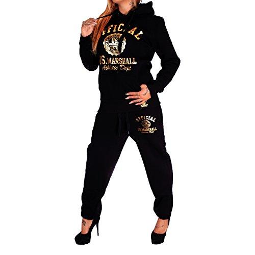 Original Anzug US-Marshall US Marshall Trainingsanzug Hose & Hoodie Herren & Damen Jogginghose Sporthose Fitness (M)