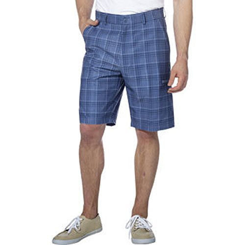 Pebble Beach Men's Performance Short (42, Blue Plaid)