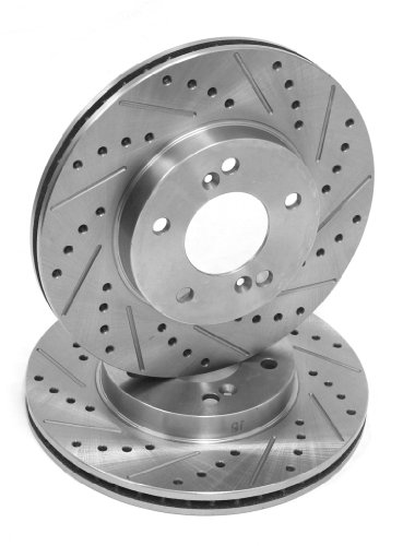 2 Day Brakes Rear Performance Cross Drilled and Slotted Brake Rotors