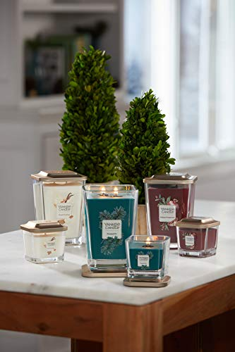 Yankee Candle Elevation Collection with Platform Lid Frosted Fir Scented Candle, Large 2-Wick, 80 Hour Burn Time