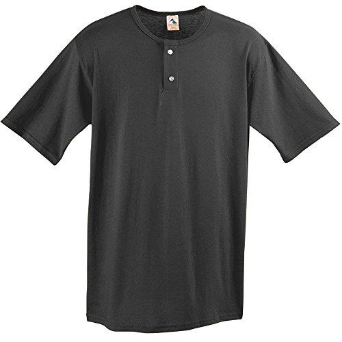Augusta Sportswear Two Button Baseball Jersey, Medium, Black Two Button Jersey
