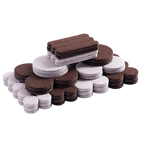 Home Master Hardware Felt Furniture Pads 200 Pieces Self Adhesive Furniture Pads Anti Scratch Chair Floor Protectors Various Size, Protect Tiled, Hardwood, Laminate, Wood Flooring