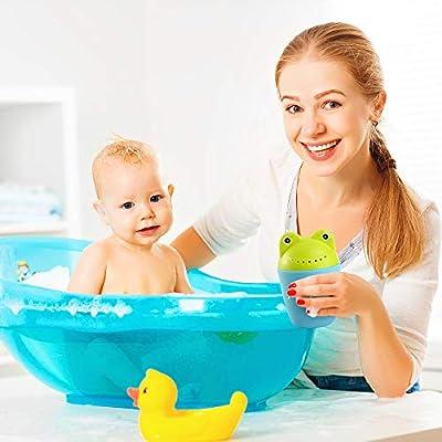 Baby Bath Rinser by Baby Rocket & Free Baby Shower Cap | The Funniest Baby Bath Set