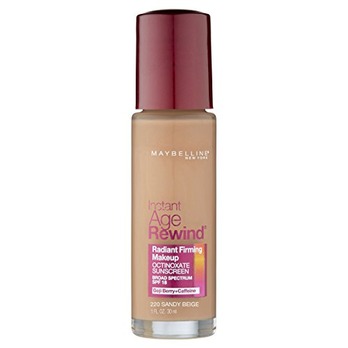 Maybelline New York Instant Age Rewind Radiant Firming Makeup, Sandy Beige 220, 1 Fluid Ounce