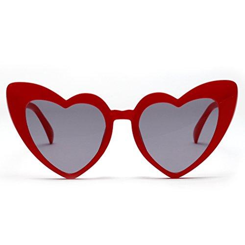 en carrées pour XWB forme Fashion Rouge de multicolore lentille peach Polarisées Modernes femme coeur Lunettes soleil Lunettes homme UV400 Réfléchissantes et de AwnqqX4S