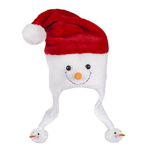 Plush Frosty Snowman Christmas Novelty Hats (Plush Snowman)