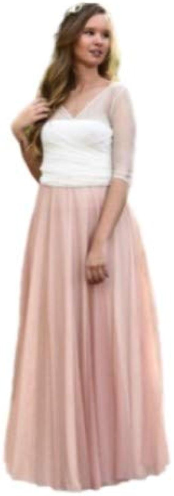 Vestido de Novia a Medida Traje de Boda Mujer Largo de Tul Romántico para Boda Civil o Religiosa: Amazon.es: Ropa y accesorios