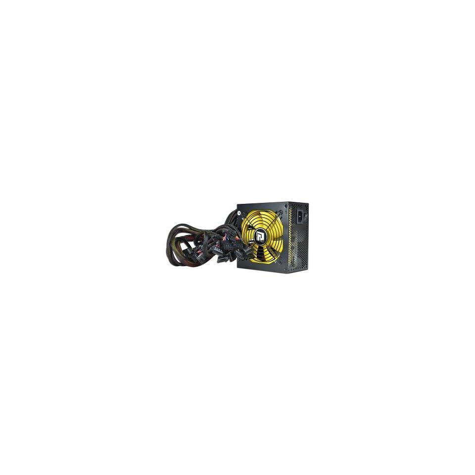 PowerColor 500W 20+4 pin Dual Fan ATX Power Supply w/SATA, PCI E & Dual 12V Rails (Black)