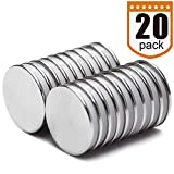 "Powerful Disc Neodymium Magnets (20 Pack) - 1.26""D x 0.08""H"