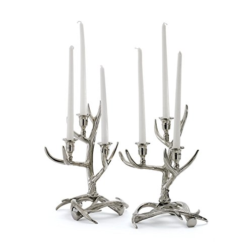 - Pair of Tangled Antler Candelabras