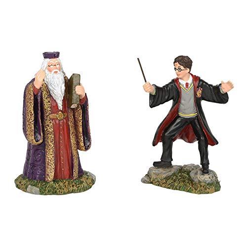 (Department56 Potter Village Accessories Harry and Headmaster Figurine Set, 3.15