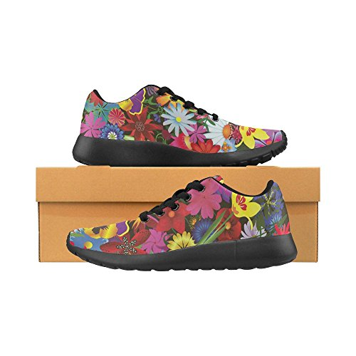 InterestPrint Womens Road Running Shoes Jogging Lightweight Sports Walking Athletic Sneakers FgSDyoE23
