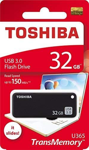(Toshiba USB3.0 Flash Drive 32GB USB 3.0 Memory Stick TransMemory U365 Read 150MB/s Slide (THN-U365K0320A4))