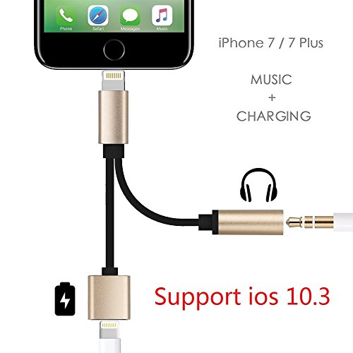 Support iOS 10.3 - Lightning to 3.5mm Audio Adapter, Betteck 2A 2 in 1 Lightning Charger and 3.5mm Earphones Jack Cable for Apple iPhone 7 7 Plus 6S 6 iPod iPad