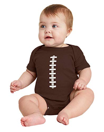 Football Laces - Costume Sports Athlete Bodysuit (Brown, 24 Months) -