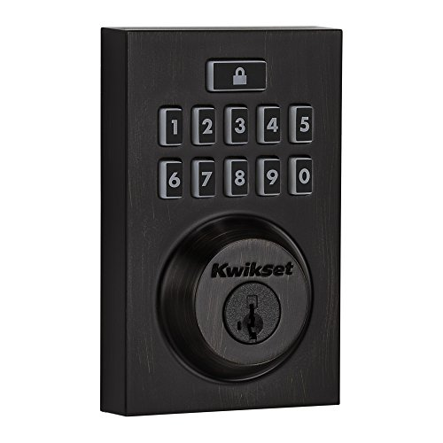 Kwikset Smartcode 913 Contemporary Electronic Deadbolt Featuring Smartkey In Venetian Bronze by Kwikset