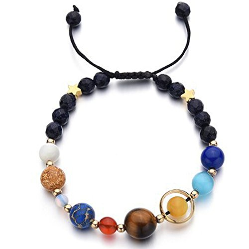 xy Solar System Eight Planets Bracelet Guard Stars Natural Stone Beads,New 01 edition ()