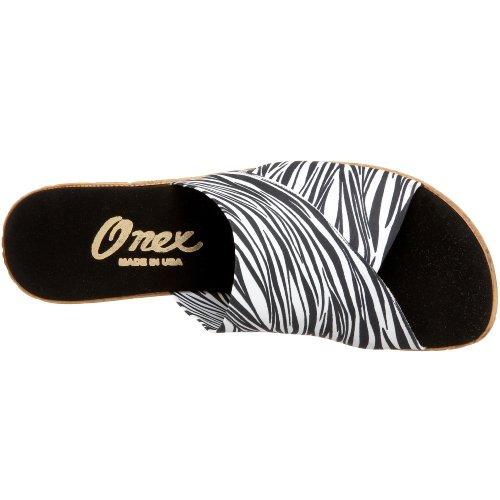Onex Kvinders Christina Sandal Hvid Zebra Nrp5mihC8