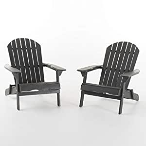 Amazon.com: Hillary Madera de acacia silla plegable de ...