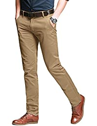 Men's Slim Tapered Stretchy Casual Pant #8103