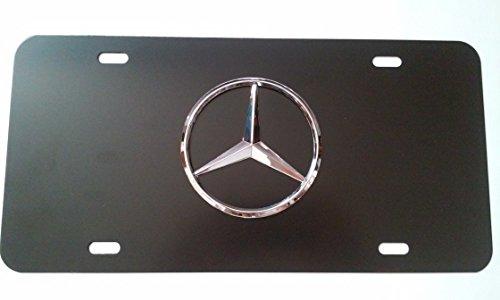 mercedes-benz-black-aluminum-front-license-plate-with-caps-cla-cls-c-e-s-sl-slk-gl
