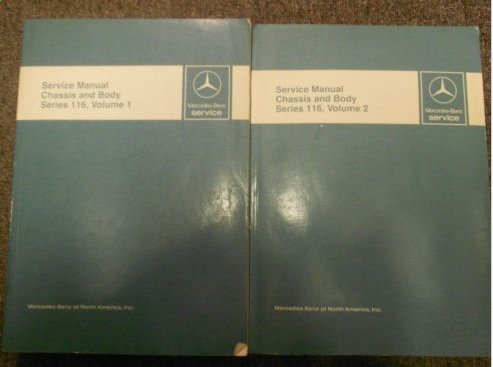 - 1973 1980 MERCEDES Chassis and Body Series 116 Service Repair Manual OEM SET