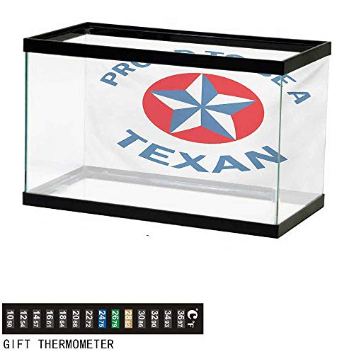 - Aquarium Background,Texas Star,Proud to be a Texan Quote with Star Motif in Circle Patriotic Message,Blue and Vermilion Fish Tank Backdrop 60