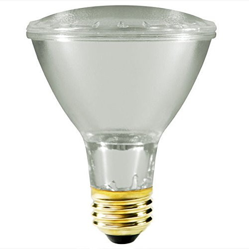 Satco S2240 39 Watt (50 Watt) 530 Lumens PAR30 Long Neck Halogen Narrow Flood 34 Degrees Clear Light Bulb, (Narrow Flood Reflector)