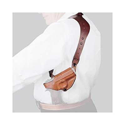 Desantis C.E.O. Shoulder Rig Holster fits S&W M&P Shield 9/40, Right Hand, Tan