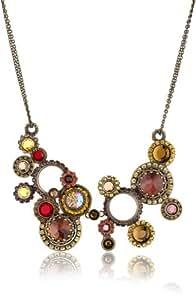 "Sorrelli ""Maple Syrup"" Crystal Multi-Circle Bib Goldtone Necklace"