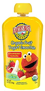 Earth's Best Organic Fruit Yogurt Smoothie, Strawberry Banana, 4.2 Ounce (Pack Of 12) 0