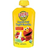 Earth's Best Organic Sesame Street Toddler Fruit Yogurt Smoothie, Strawberry Banana, 4.2 oz. Pouch (Pack of 12)