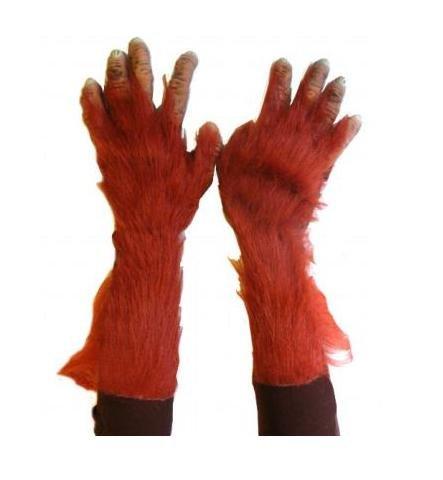 (Zagone Orangutan Gloves, Tan Fingers, Orange Faux)