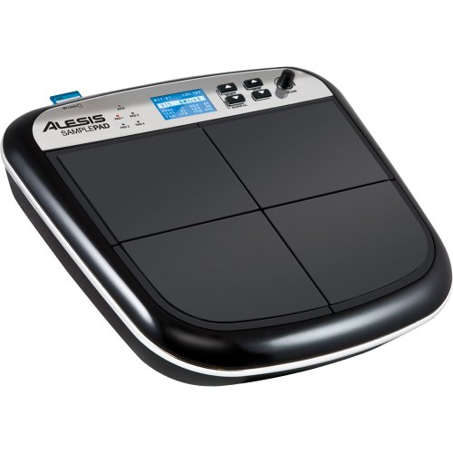 Alesis SamplePad | Compact 4-Pad Electronic Drum and Sample Instrument [2012 model] -