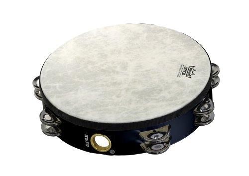Remo TA-5210-70 Fiberskyn Tambourine - Quadura Black, 10