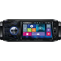 Power Acoustik PD-454B 4.5 Single-DIN In-Dash Oversized & Detachable LCD Touchscreen DVD Receiver