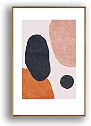 IDEA4WALL Framed Canvas Wall Art Abstract for Living Room, Bedroom Color Block Canvas Prints for Modern Home D