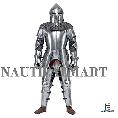 Medieval Knight's Armor SCA LARP steel fantasy battle historical reenactment full medieval armor Halloween by NAUTICALMART (Image #1)