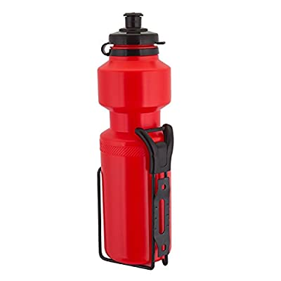 Sunlite Water Bottle with Steel Cage, 25oz, Red : Bike Water Bottles : Sports & Outdoors