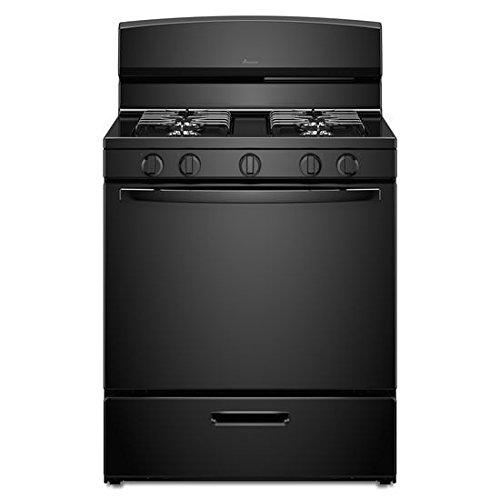 Amana 30 Inch Range - Amana 5.1 Cu. Ft. Gas Oven Range With Sealed Gas Burners - Black