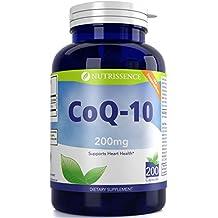 CoQ10 200mg 200 Capsules – Coenzyme Q10 Ubiquinone – Nutrissence