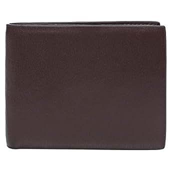 Salony Bi-fold Wallet for Men - Leather, Brown