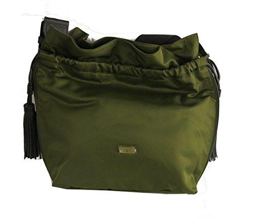 PATRIZIA PEPE - Bolso al hombro para mujer G365 Military Green Nylon
