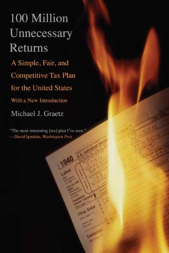 100 Million Unnecessary Returns: A Simple, Fair, and Competitive Tax Plan for the United States; With a New Introduction [Michael J. Graetz] (Tapa Blanda)